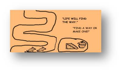 Mice Will Find A Way is short fable story about overcoming obstacle.