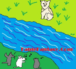 Short Fable Story: The Cat across the River