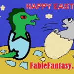 Short Happy Easter and Funny Cute Image Greeting by Fable Fantasy