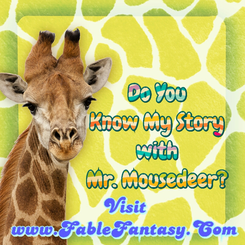 giraffe short fable story cartoon