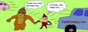 Small Story for kids: Fable of Little Capuchin and Orangutan