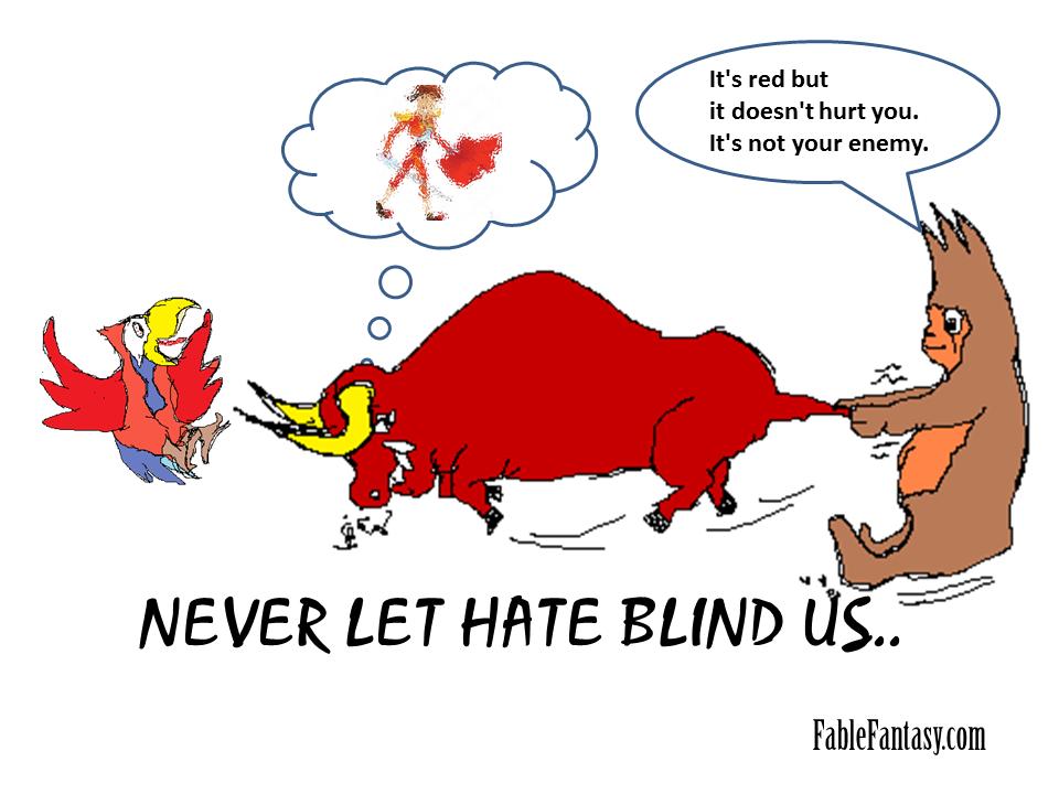 Short Fable Story of Bull Orang Utan Parror