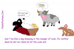 Short Fable Story: Dog in Manger Thomas Bible