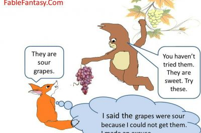 Short fable story fox and grapes